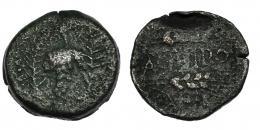 3  -  ACINIPO. As. A/ Racimo entre dos palmas. AE 8,64 g. CNH-5. I-53. ACIP-2448. BC/BC-. Rara.
