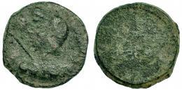 6  -  BORA. Semis. A/ Cabeza femenina velada y con cetro a izquierda. R/ Toro a izquierda, encima BORA. I-291. ACIP-2310. BC.