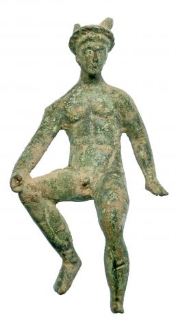720  -  ROMA. Imperio Romano. Bronce. Figura de Mercurio sedente. Altura: 11,2 cm. Procedente de colección privada española años 1970-80.