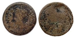 143  -  GADES. Sestercio. Augusto. A/ Cabeza de Agripa a izq. con corona rostral; AGRIPPA poco visible. R/ Acrostolio; (MVN)ICIP (PARENS). AE39,88 g. RPC-80. APRH-80a. ACIP-3310. CC-4103, mismo ejemplar. MC. Rara.