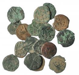 258  -  Lote 17 prutah. Judea. Poncio Pilatos (26-36 d.C.). De RC a BC.