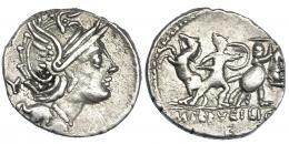 285  -  SERVILIA. Denario. Roma (100 a.C.). A/ Marca de control Y. R/ Marca de control F. CRAW-327.1. FFC-1117. MBC.