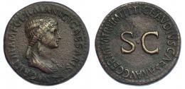317  -  AGRIPINA (bjo Claudio I). Sestercio. Roma (c. 50-54). A/ Cabeza de Agripina la Mayor a der.; AGRIPPINA M F GERMANICI CAESARIS. R/ SC, alrededor TI CLAVDIVS CAESAR AVG GERM P M TR P IMP P P. RIC-102. Pátina marrón. MBC/MBC+.