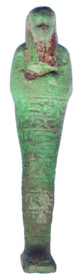 2015  -  EGIPTO. Baja Época. Ushebti epigrafíado. Dinastía XXVI (664-525 a.C.). Fayenza. Altura 23,2 cm. Ex. Tajan-Paris años 90.