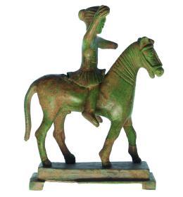 2027  -  GRECIA. TRACIA (IV-III a.C.). Figura de jinete. Bronce. Altura 15,2 cm. Longitud 12,5 cm. Se adjunta prueba de termoluminiscencia. Ex col. J.M. York.