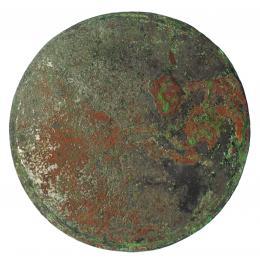 2032  -  ROMA. Espejo (I a.C.- IV d.C.). Bronce. Diámetro 17,8 cm. Pegado / Restaurado.