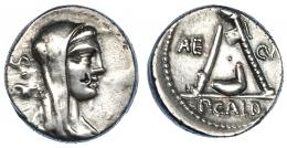 3020  -  SULPICIA. Denario. Roma (69 a.C.). R/ Ley. AE-CVR (nexada). CRAW-406.1. FFC-1135. Contramarca en anv. Limpiada. MBC+.