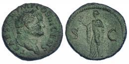 3033  -  TITO (bajo Vespasiano). R/ Spes a izq.; S-C. RIC-751. Pátina verde rugosa. BC+.