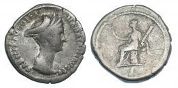 3041  -  SABINA. Denario. Roma (128-134). R/ Ceres sentada a izq. RIC-411. BC+.