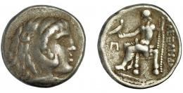 92  -  CELTAS DEL DANUBIO. Imitación Alejandro. Tetradracma. S. II-I a.C. AR 15,78 g. SBG-210. MBC-/BC+.