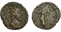 217  -  TÉTRICO I. Antoniniano. Colonia? (272-273). R/ Pax a izq. con rama y cetro; PAX AVG. VE 1,93 g. 16,7 mm. RIC-100. MBC/BC-.