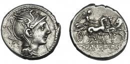 40  -  MALLIA. Denario. Roma (111-110 a.C.). R/ Ley. T. MAL AP CL Q VR. AR 3,91 g. 17,7 mm. CRAW-299.1b. FFC-834. MBC+/MBC.