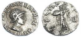 2129  -  GRECIA ANTIGUA. BACTRIA. Menandro I. Dracma (165-130 a.c.). AR 2,43 g. 15,3 mm. SBG-7597. MBC.