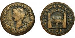 2027  -  HISPANIA ANTIGUA. EMERITA. As. Tiberio. R/ Recinto amurallado; AVGVSTA EMERITA/ COL. AE 11,67 g. 26,9 mm. I-1056. RPC-42. APRH-42. BC+.