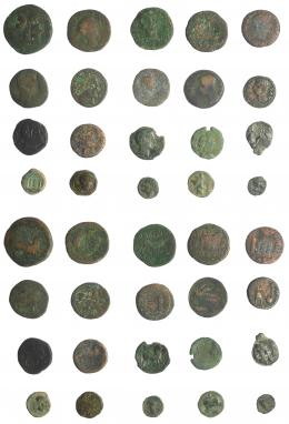 2006  -  HISPANIA ANTIGUA. Lote de 20 piezas ibéricas e hispano-romanas. De MC a BC+.