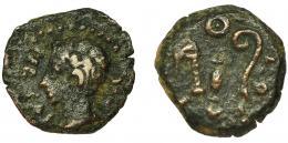 2066  -  HISPANIA ANTIGUA. COLONIA PATRICIA. Augusto. Cuadrante. R/ Instrumentos pontificales; (CO)LO PAT(R). AE 1,95 g. 14,2 mm. RPC-131. I-1993. APRH-131. ACIP-3359. BC+/MBC-.