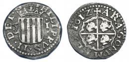 1000  -  FELIPE III. Real. 1612. Zaragoza. AC-577. Leves oxidaciones. MBC/MBC-.