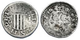 1001  -  FELIPE III. Real. 1612. Zaragoza. AC-577. BC+/BC.