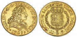 1079  -  FELIPE V. 8 escudos. 1729. Madrid. JJ. Sin valor. VI-1697. MBC+. Muy rara.