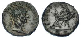 511  -  IMPERIO ROMANO. TRAJANO. Dupondio. Roma (98-99). A/ Cabeza radiada a der.; (IMP CAES) NERVA TRAIAN AVG GERM P M. R/ Abundantia con cetro sentada a izq. sobre cornucopias cruzadas; TR POT COS II(I P P), exergo SC. AE 12,22 g. 26,1 mm. RIC-398. Pátina verde oscuro. EBC-/MBC+.