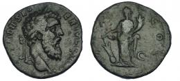 558  -  IMPERIO ROMANO. DIDIO JULIANO. Sestercio. Roma (193). A/ Cabeza laureada a der.; (IMP CAES M) DID SEVER IVLIAN AVG. R/ Fortuna a izq. con timón sobre globo y cornucopia; (P M TR P) COS (S)C. AE 15,94 g. 28 mm. Pátina verde. MBC-/BC. Rara.
