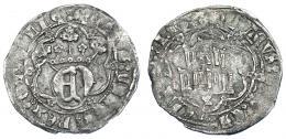 752  -  REINOS DE CASTILLA Y LEÓN. ENRIQUE IV. 1/2 real. Cuenca. AR 1,66 g. 21,3 mm. III-697. BMM-923. MBC-. Muy escasa.