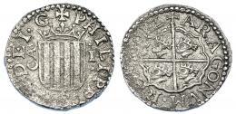 999  -  FELIPE III. Real. 1612. Zaragoza. AC-577. Oxidaciones limpiadas. MBC+.