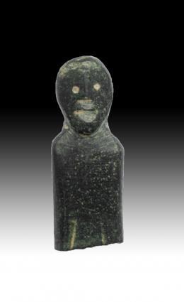 1065  -  HISPANIA ANTIGUA. Cultura ibérica. Fragmento de exvoto (IV-II a.C.). Bronce. Altura 2,5 cm.