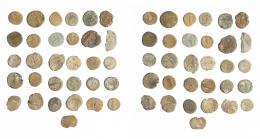 14  -  HISPANIA ANTIGUA. Lote de 31 plomos, algunos de Lusitania y otros no identificables. Módulo pequeño. MC/BC.