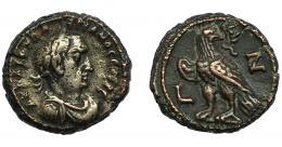 325  -  IMPERIO ROMANO. VALERIANO I. Tetradracma. Alejandría (259-260). R/ Águila a izq. con cabeza vuelta; fecha L-Z (año 7). MBC-/MBC.