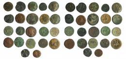 4  -  HISPANIA ANTIGUA. Lote de 22 bronces de diferentes módulos. RC/BC+.