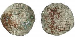 416  -  REINOS DE CASTILLA Y LEÓN. ALFONSO X. Dinero de seis líneas. Marca estrella. VE 0,73 g. 17,4 mm. III-234. BMM-373. Oxidaciones. MBC-.