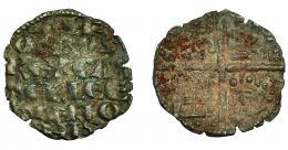418  -  REINOS DE CASTILLA Y LEÓN. ALFONSO X. Dinero. Marca cruz. VE 0,76 g. 17,9 mm. III-235. BMM-362. MBC-.