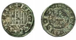449  -  REINOS DE CASTILLA Y LEÓN. FERNANDO IV. Pepión-dinero. Sevilla. Ley. F REGIS. VE 0,89 g. 18,9 mm. III-325.2. BMM-456.3. MBC.