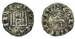 450  -  REINOS DE CASTILLA Y LEÓN. FERNANDO IV. Pepión-dinero. Marca tres puntos. VE 0,80 g. 17,7 mm. III-328. BMM-459. MBC-.