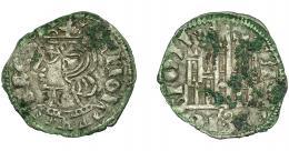 456  -  REINOS DE CASTILLA Y LEÓN. ALFONSO XI. Cornado. Sevilla. S tumbada. VE 0,93 g. 18,8 mm. III-340.2. BMM-477.2. Oxidaciones. MBC.