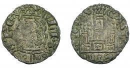 457  -  REINOS DE CASTILLA Y LEÓN. ALFONSO XI. Cornado. Toledo. T en puerta. VE 0,76 g. 17,9 mm. III-341. BMM-478. MBC.