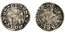 479  -  REINOS DE CASTILLA Y LEÓN. ENRIQUE IV. 1/2 real. Segovia. AR 1,45 g. 18,6 mm. III-725. BMM-933.BC+.