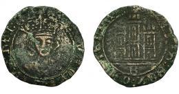 485  -  REINOS DE CASTILLA Y LEÓN. ENRIQUE IV. 1/2 cuartillo. Burgos. VE 1,38 g. 21 mm. III-773. BMM-1039. BC+.