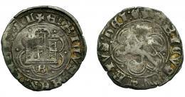 487  -  REINOS DE CASTILLA Y LEÓN. ENRIQUE IV. Blanca. Burgos. VE 2,13 g. 22,8 mm. III-816. BMM-1067. BC+.
