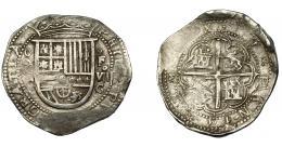 526  -  FELIPE II. 8 reales. 1590/89. Granada. F. AC-645 vte. Rara. MBC.