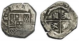 568  -  FELIPE V. 4 reales. (1)704. Madrid. BR. VI-839. Rayas. MBC-. Rara.