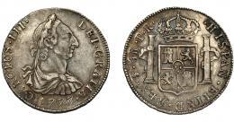 587  -  CARLOS III. 4 reales. 1777. Potosí. PR. VI-802. MBC.