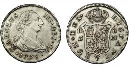 592  -  CARLOS III. 8 reales. 1778. Sevilla. CF. VI-1034. Limpiada. EBC-. Rara.