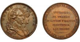 601  -  CARLOS IV. Medalla. 1801. Invento de DROZ. En el canto ACUÑA SUPERFICIE Y CANTO A UN SOLO GOLPE. Sepúlveda. AE 39,5 mm. MPN-305. EBC/EBC+.
