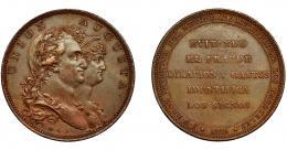 602  -  CARLOS IV. Medalla. 1801.  Invento de DROZ. Firma M.G.S. Sepúlveda. Canto estriado. AE 30,5 mm. MPN-305 vte. EBC-.