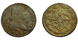 609  -  CARLOS IV. 8 maravedís. 1804. Segovia. VI-77. BC+.