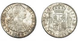 621  -  CARLOS IV. 8 reales. 1802. Santiago. JJ. VI-844. Leves oxidaciones. EBC-.