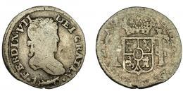 639  -  FERNANDO VII. 1/2 real. 1820. Zacatecas. AG. VI-437. Rebaba en la fecha. BC+/BC-.
