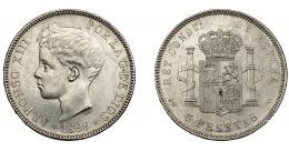 782  -  ALFONSO XIII. 5 pesetas. 1899 *18-99. Madrid. SGV. VII-191. EBC-/EBC.